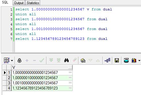 PL/SQL Developr отображение числа как CHAR